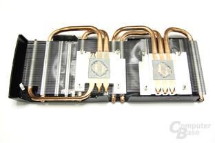 Radeon HD 6870 X2 Kühlerrückseite