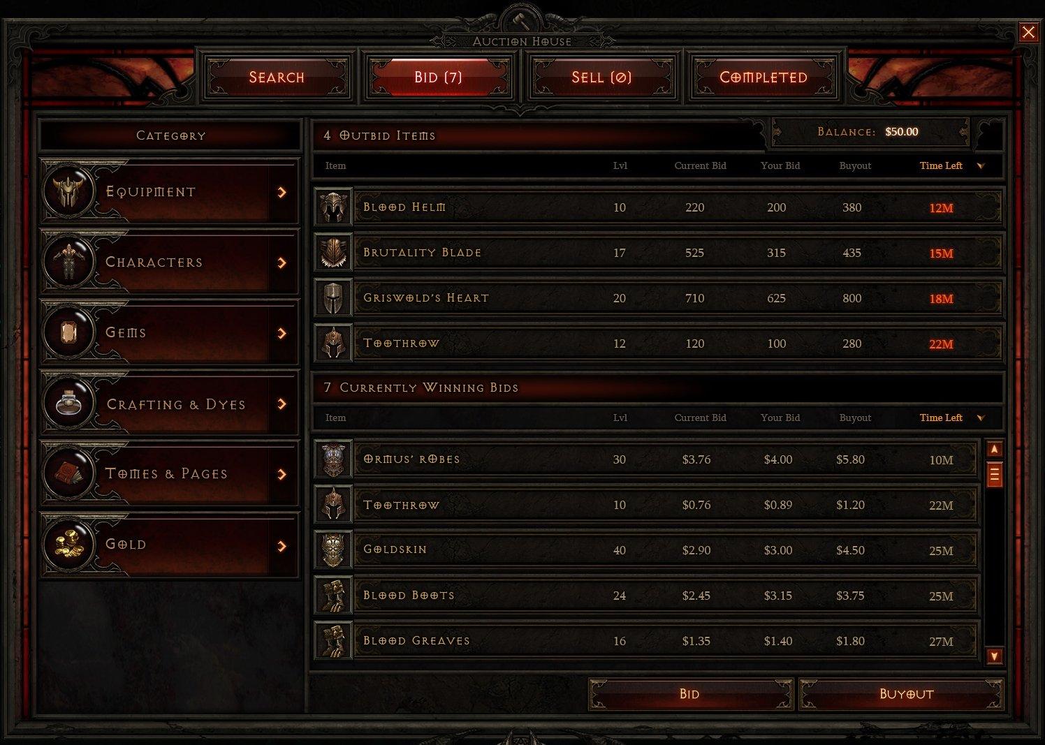 Diablo 3: Auktionshaus