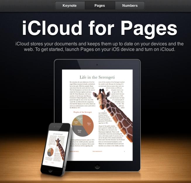 iCloud: iWorks