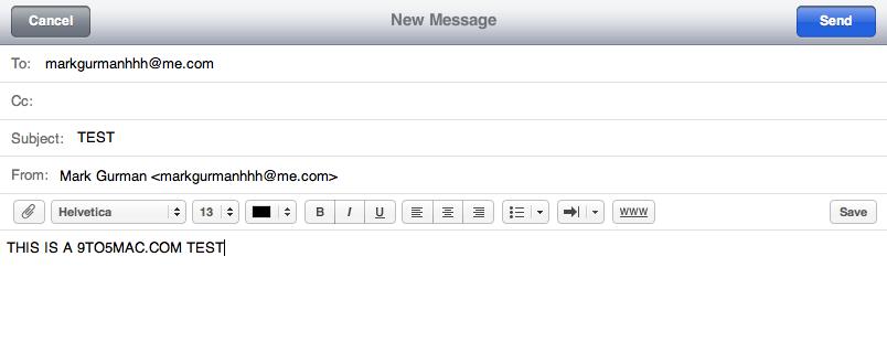 iCloud: E-Mail-Client