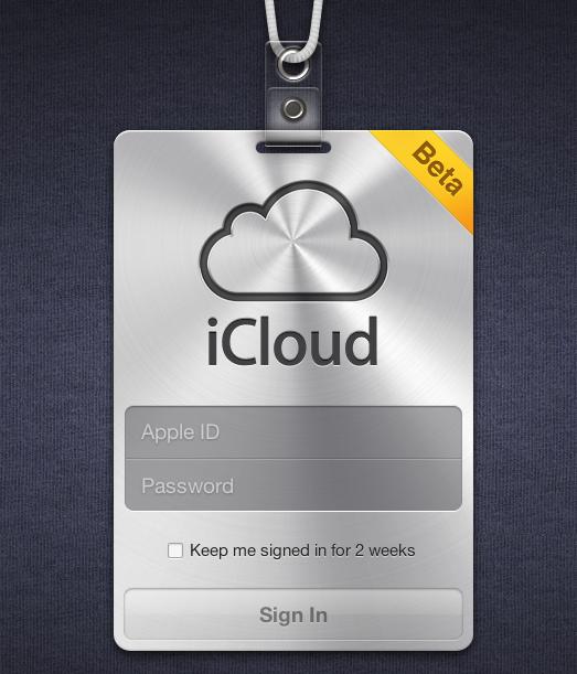 iCloud Beta Login
