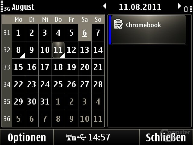 Symbian Anna: Kalender
