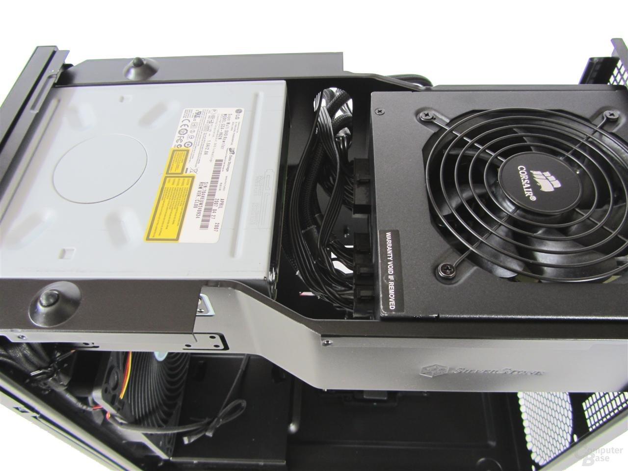 SilverStone TJ08B-E – Innenraum mit Hardware