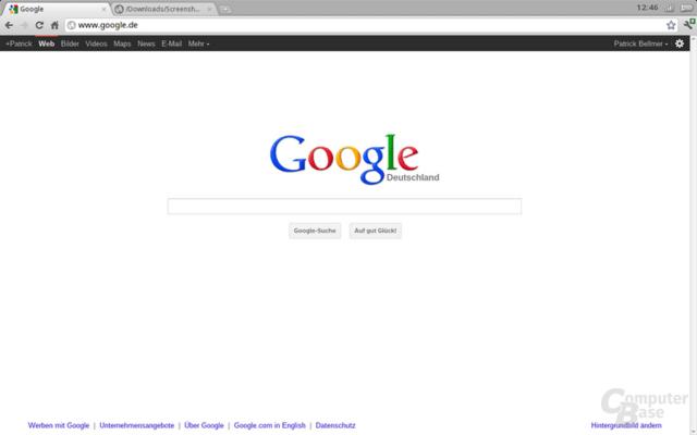 Chrome OS nach dem Einloggen