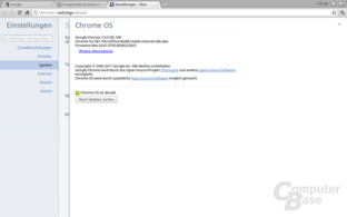 Chrome OS: Einstellungen
