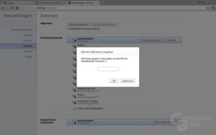 Steht kein WLAN zur Verfügung, kann auf UMTS zurückgegriffen werden
