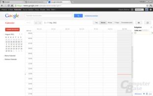 Chrome OS: Google Kalender