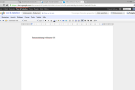 Chrome OS: Google Docs