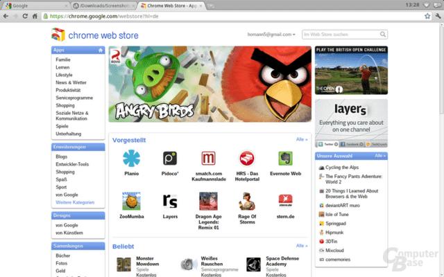 Chrome OS Web Store: Zentrale Anlaufstelle für Apps und Erweiterungen