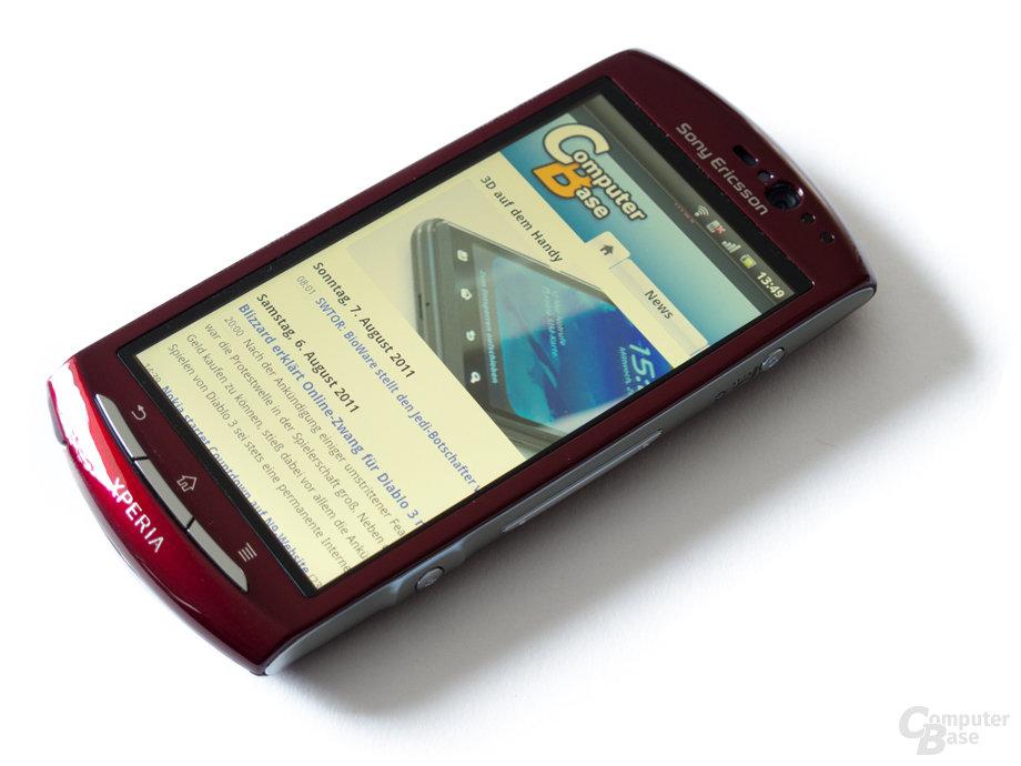 Sony Ericsson Xperia Neo: Das scharfe 3,7-Zoll-Display