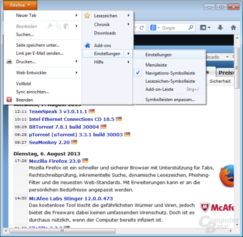 Firefox on Windows – Startseite & Funktionen
