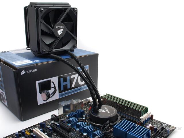Montierter Komplettwasserkühler Corsair H70