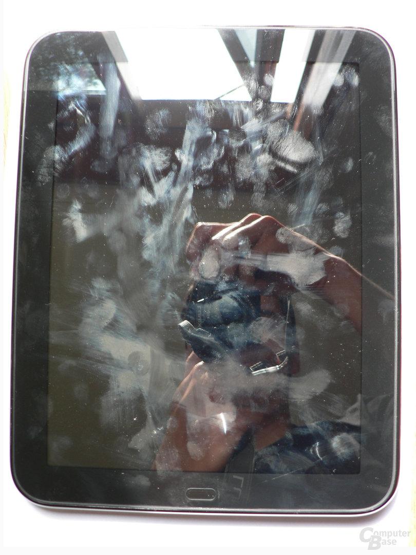 TouchPad-Display: Anfällig für Spiegelungen und Schmutz