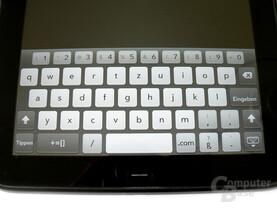 Virtuelle Tastatur auf dem TouchPad