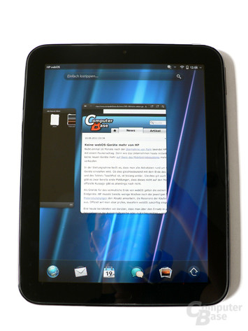 webOS-Kartensystem auf dem TouchPad