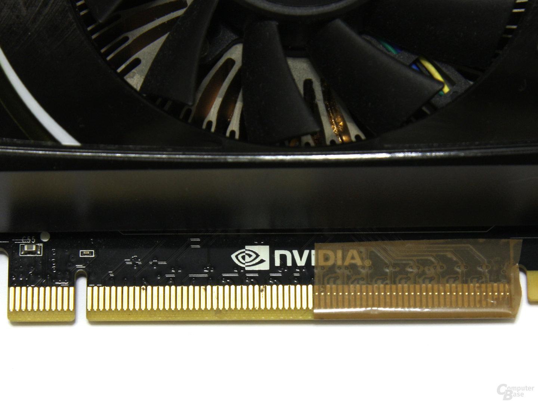 Grafikkarte abgeklebt auf PCIe x8