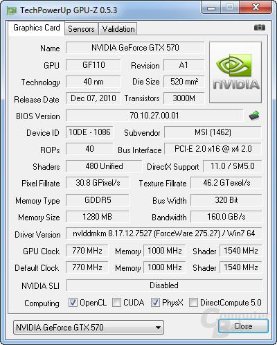 PCIe x4 bei GPU-Z