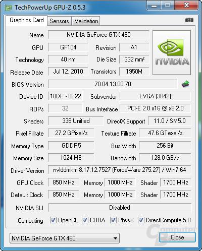 PCIe x8 bei GPU-Z