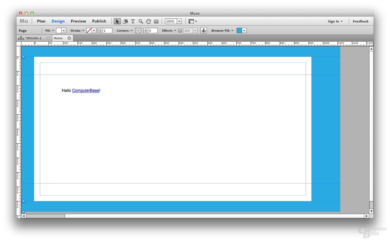 Adobe Muse Beta – Seitendesign
