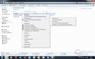 Wiedergabe via Windows Media Player