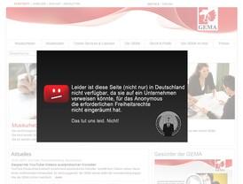 Hackerangriff: Homepage der GEMA offline