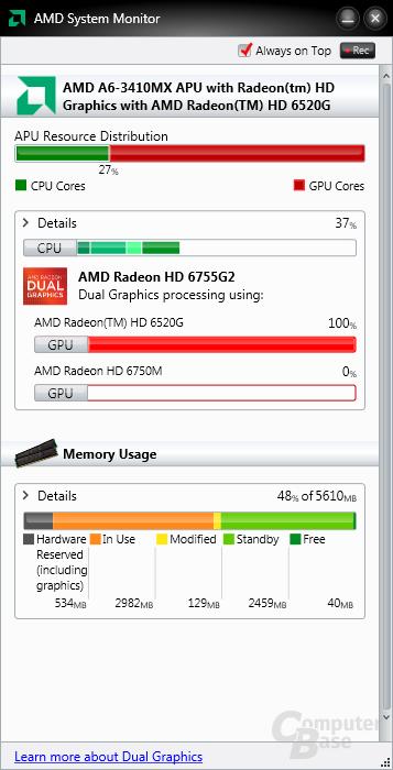 Betrieb mit integrierter GPU