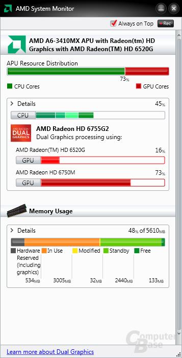 Betrieb mit dedizierter GPU