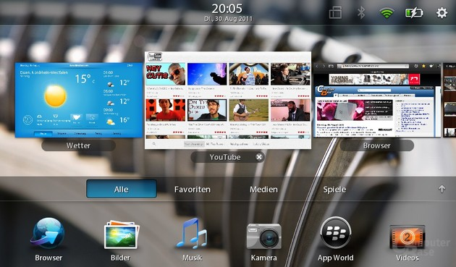 Screenshot BlackBerry Playbook