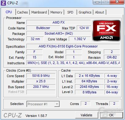 AMD FX-8150 auf 5,0 GHz mit einem Modul