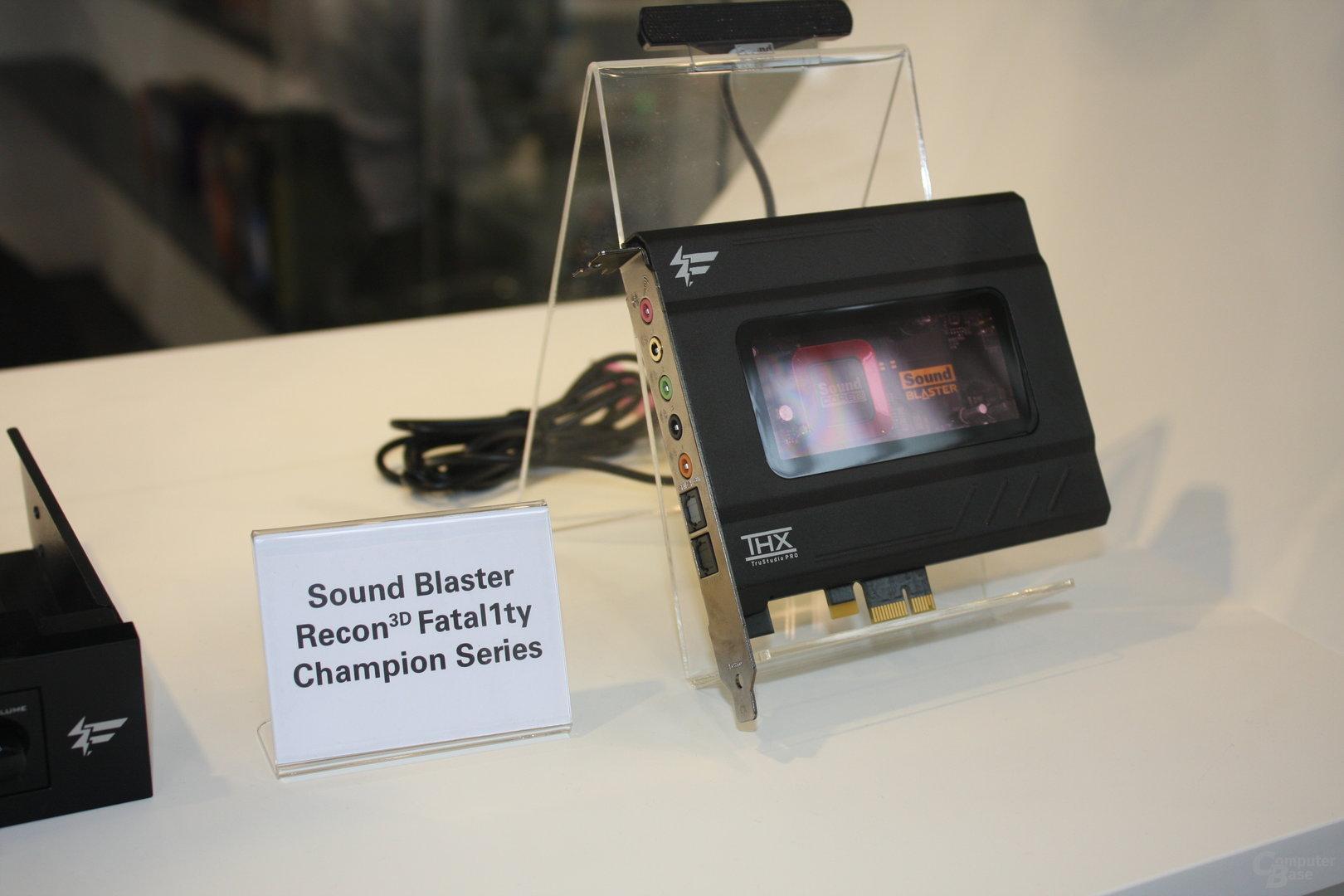 Neue Sound-Blaster-Soundkarten der Recon-3D-Serie