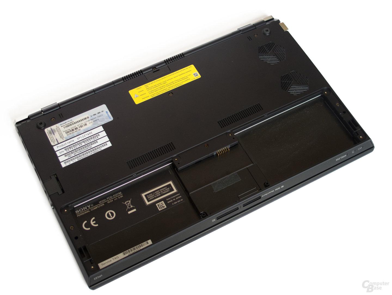 Sony Vaio Z21: Unterseite