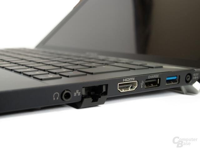 Sony Vaio Z21: Anschlüsse rechts
