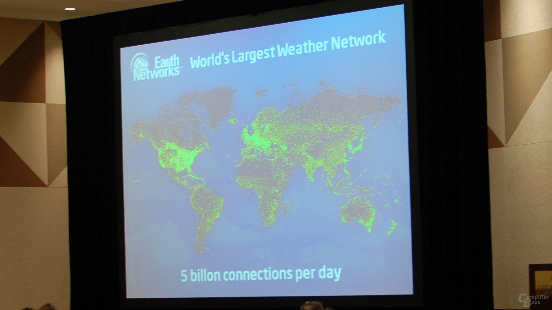 Wetternetzwerk von Earth Networks