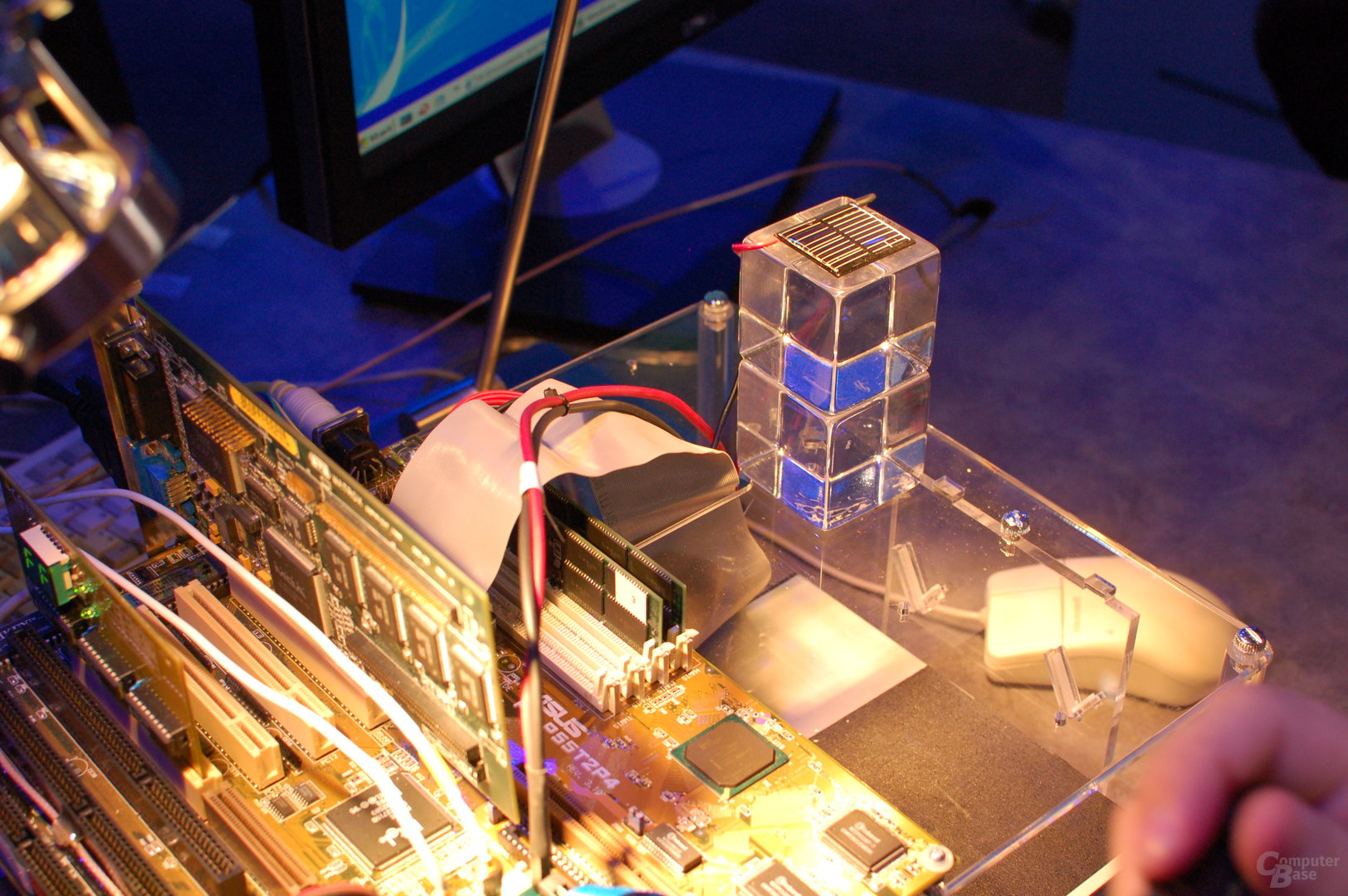 Demo-System mit Solar-betriebenem Prozessor