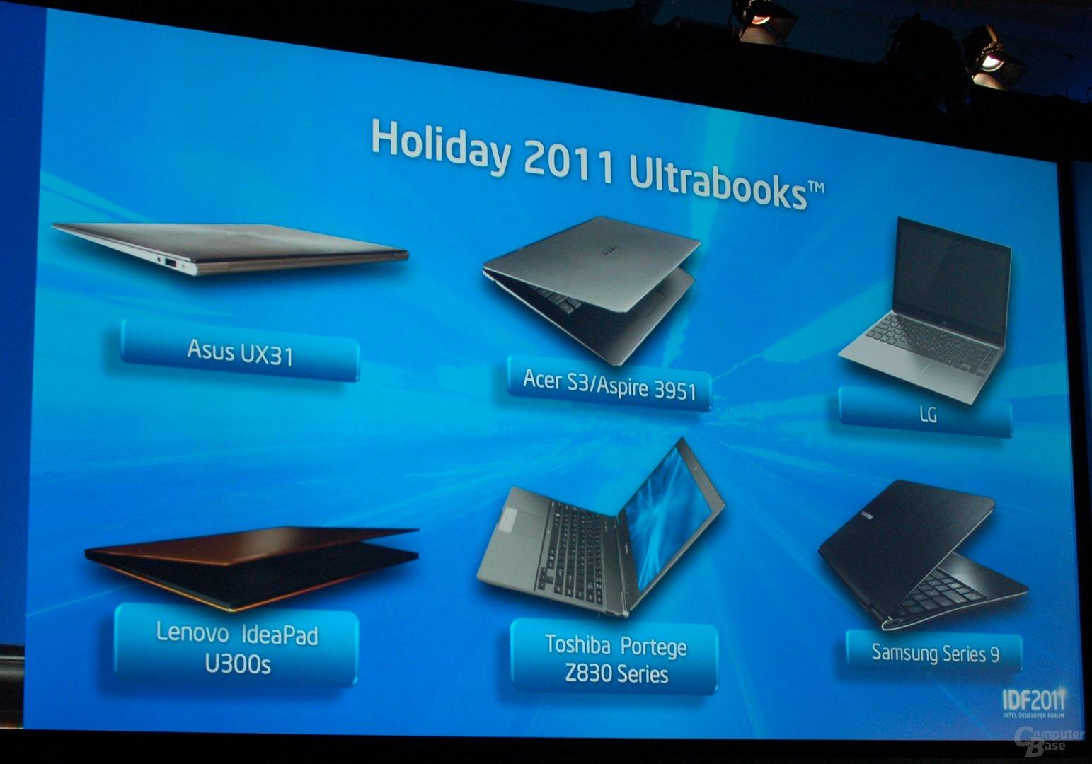 Ultrabooks mit Sandy Bridge