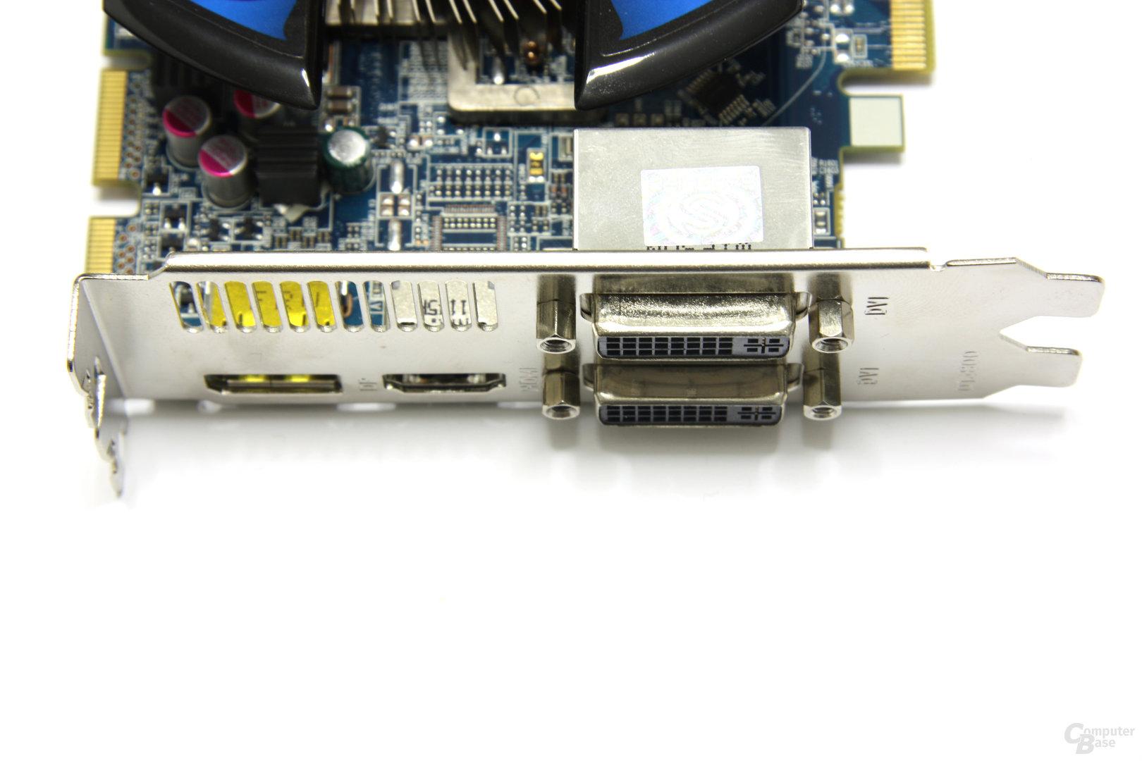 Radeon HD 6750 Vapor-X Anschlüsse