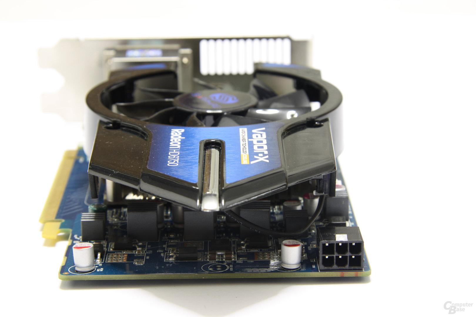 Radeon HD 6750 Vapor-X von hinten