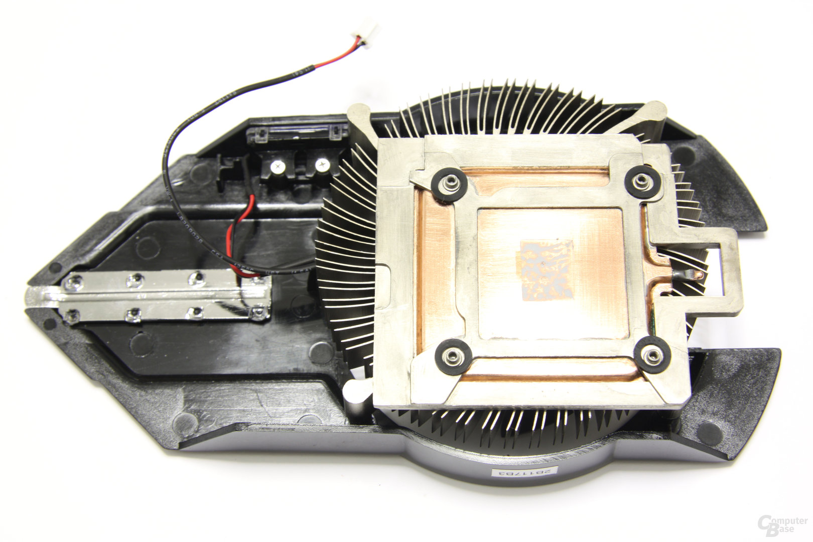 Radeon HD 6750 Vapor-X Kühlerrückseite