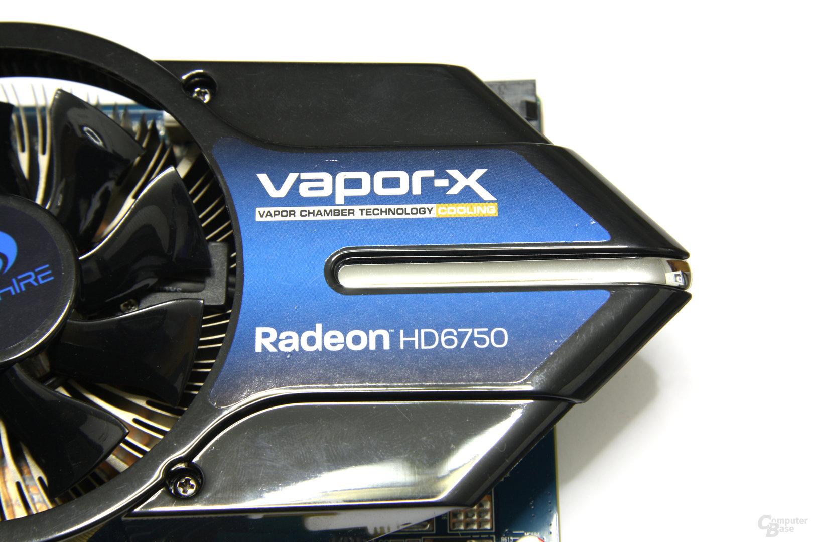 Radeon HD 6750 Vapor-X Schriftzug