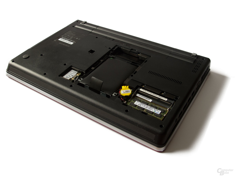 Lenovo ThinkPad Edge E525: Festplatte und Arbeitsspeicher