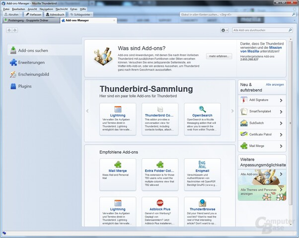 Thunderbird 7: Add-On-Manager