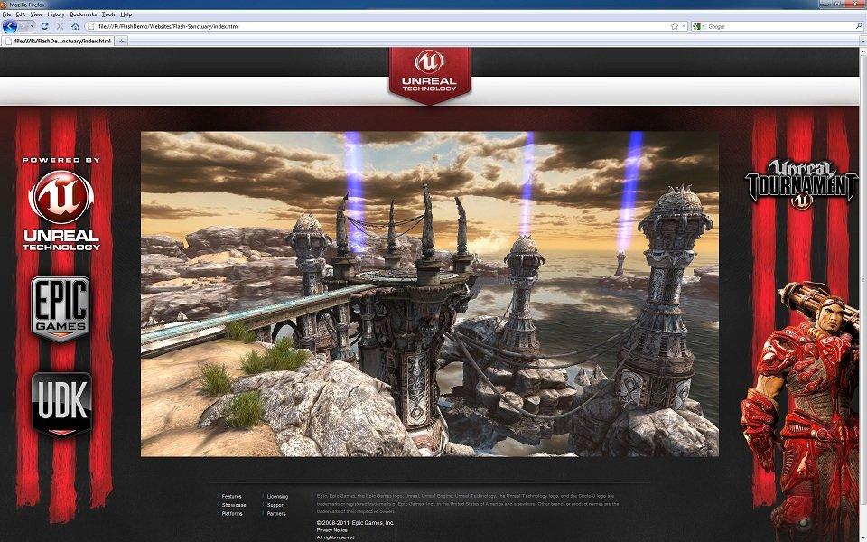 Unreal Tournament 3 auf Flash