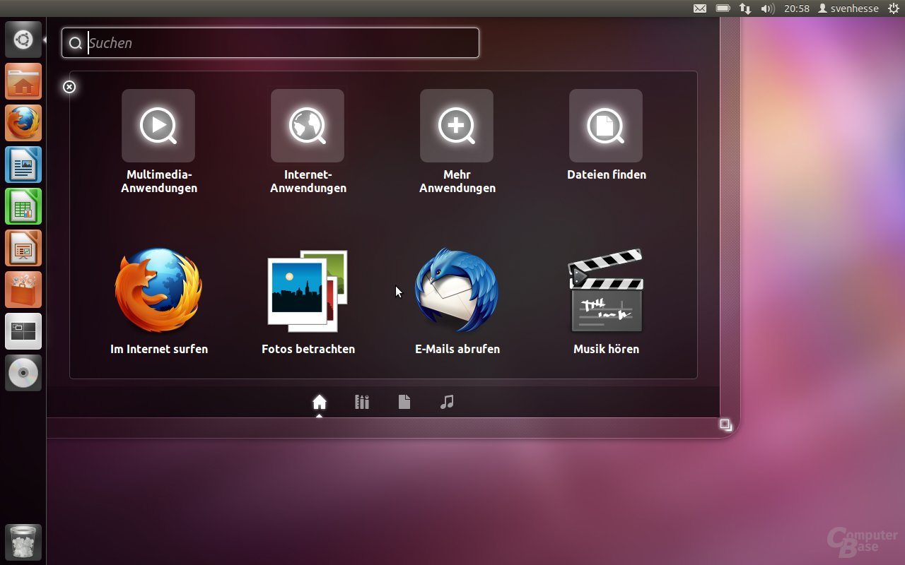 Ubuntu 11.10 – Dash mit Lenses