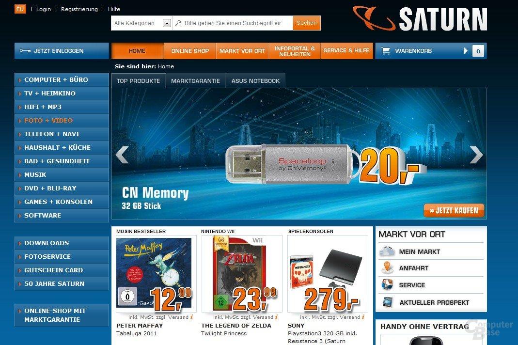 Saturn ab sofort mit Online-Shop