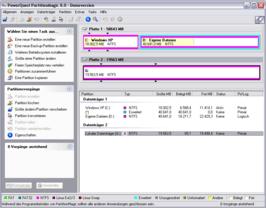 PartitionMagic 8.0 Hauptfenster