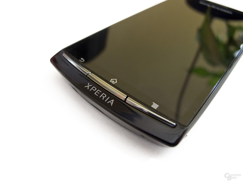 Sony Ericsson Xperia Arc S: Die Knöpfe überzeugten uns leider nicht