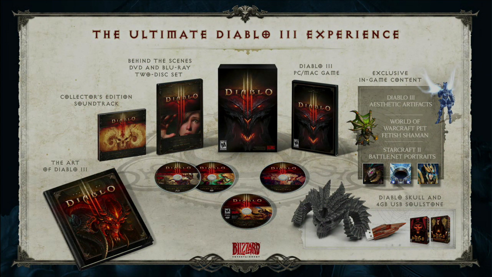 Inhalt der Diablo 3 Collector's Edition