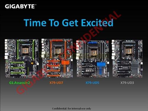 Vier X79-Platinen von Gigabyte