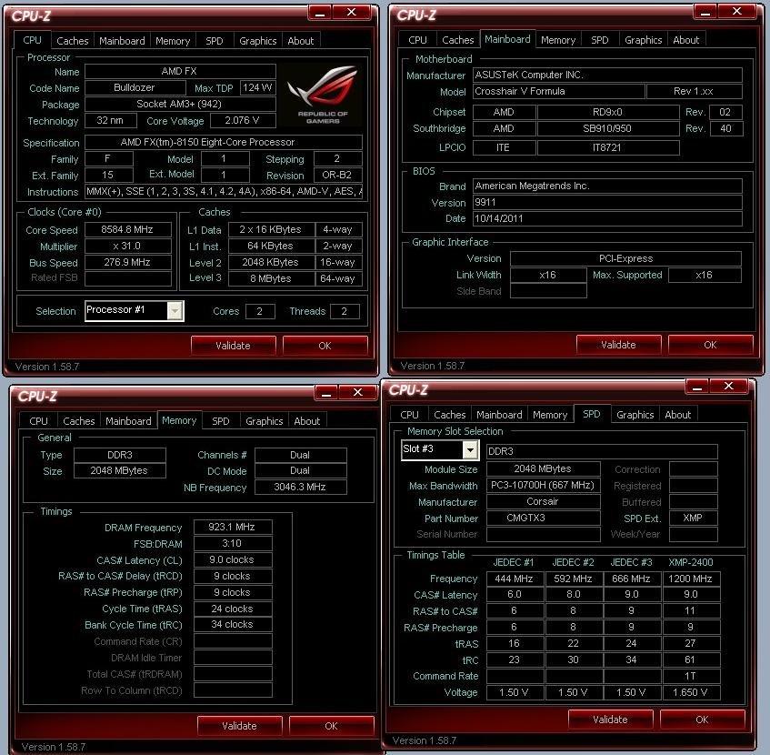AMD FX-8150 bei knapp 8,6 GHz