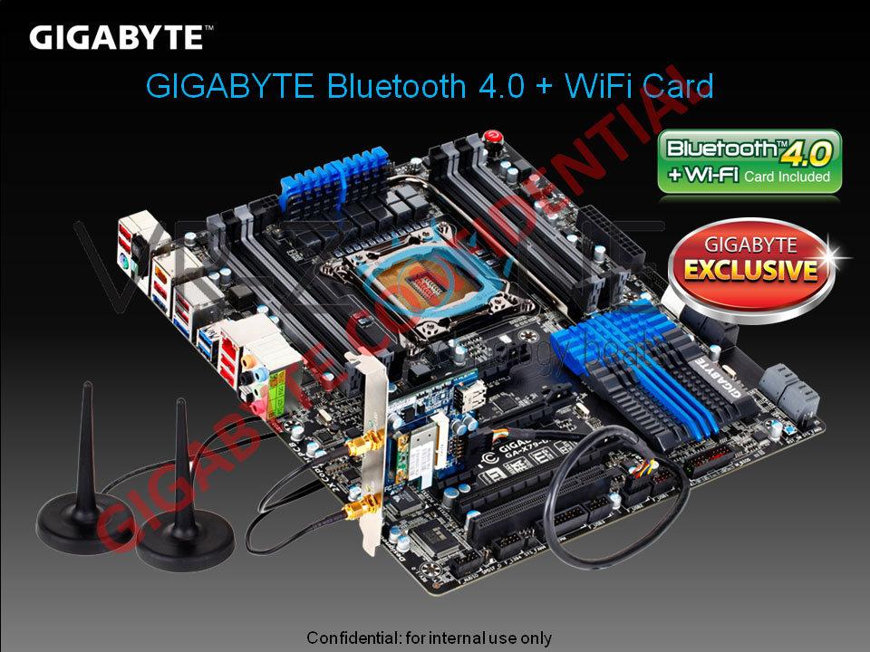 PCIe-Karte mit Bluetooth 4.0 und WLAN n von Gigabyte